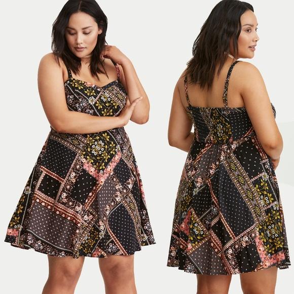 dbd58e9265601 Mixed Print Challis Tank Dress. M 5ad0d90684b5ce907012ce8f